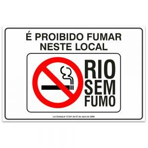 proibido fumar neste local rio sem fumo